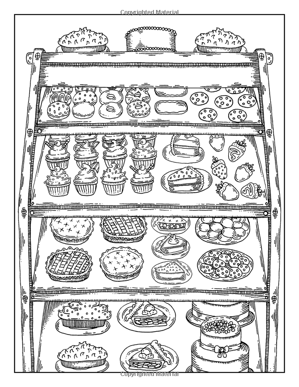 Sweet treats a coloring book 9781532805509 for Sweet treats coloring pages