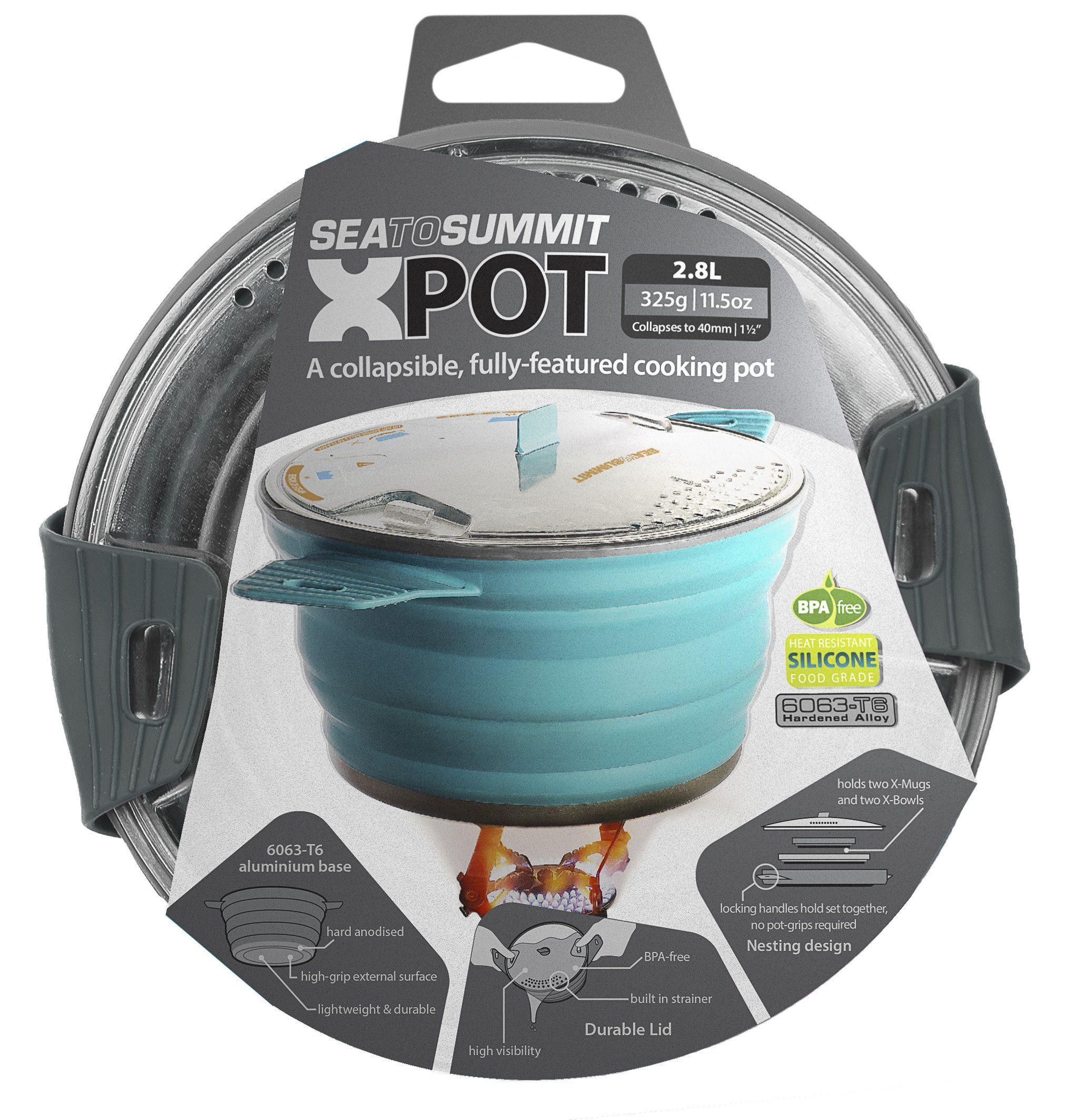Amazon.com : Sea to Summit 2.8 Liter X-Pot, Pacific Blue, Large ...
