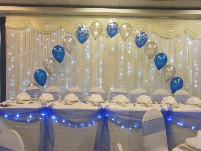 25th wedding decoration ideas  Royal Blue And Silver Wedding Decorations  Silver wedding