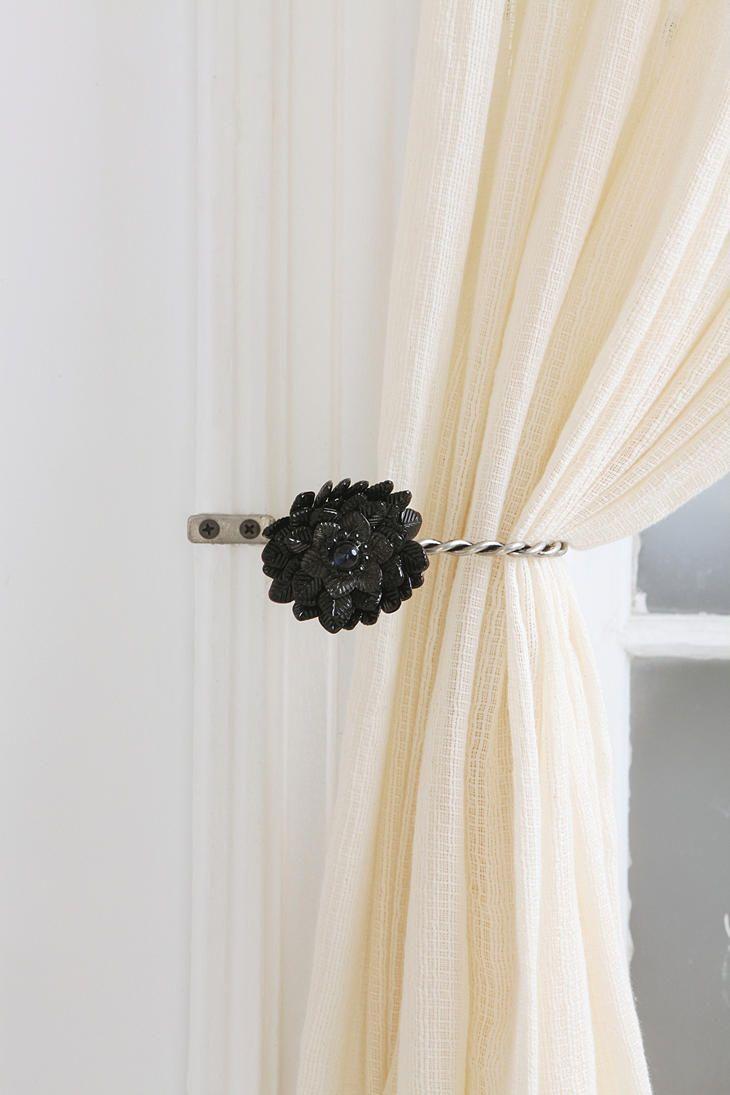Antiqued Brooch Curtain Tie Back Curtain Tie Backs Curtain Ties