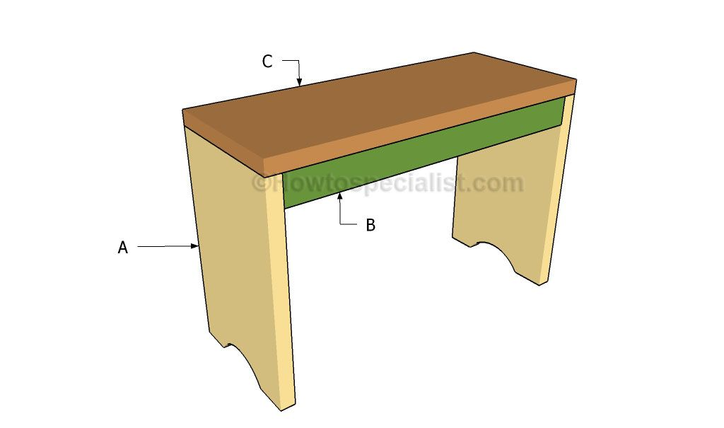 How To Build A Simple Bench Howtospecialist How To Build Step By Step Diy Plans Simple Benches Diy Plans Woodworking Projects Diy