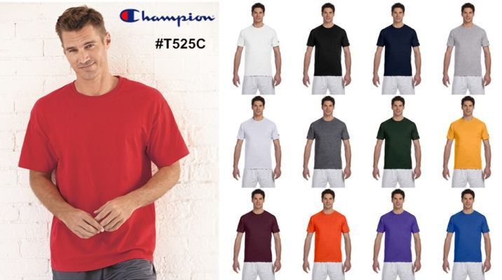 Champion T525C Cotton Tagless T Shirt from NYFifth