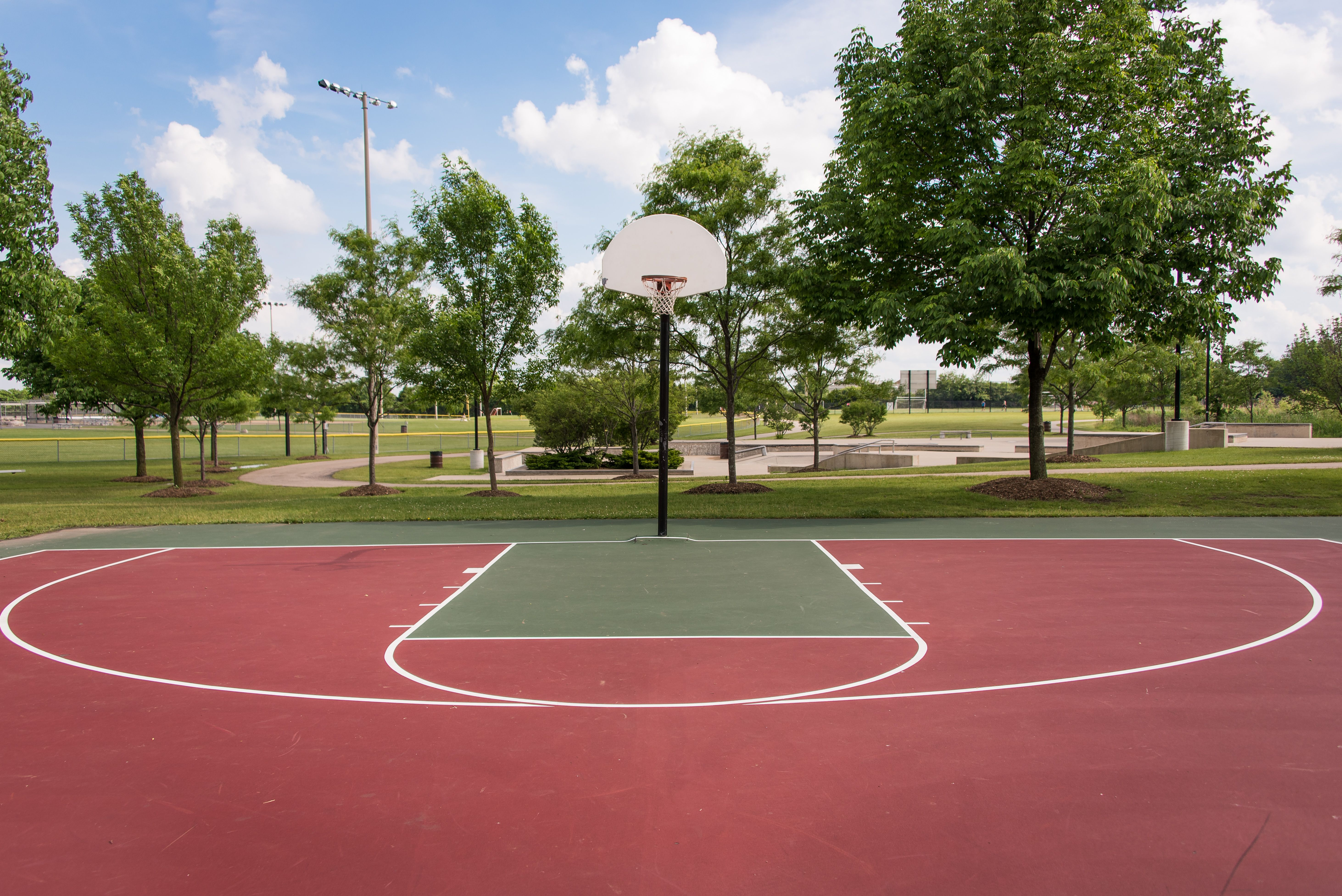 Olympic Park Basketball Court Basketball Pictures Basketball Park Scenery Background
