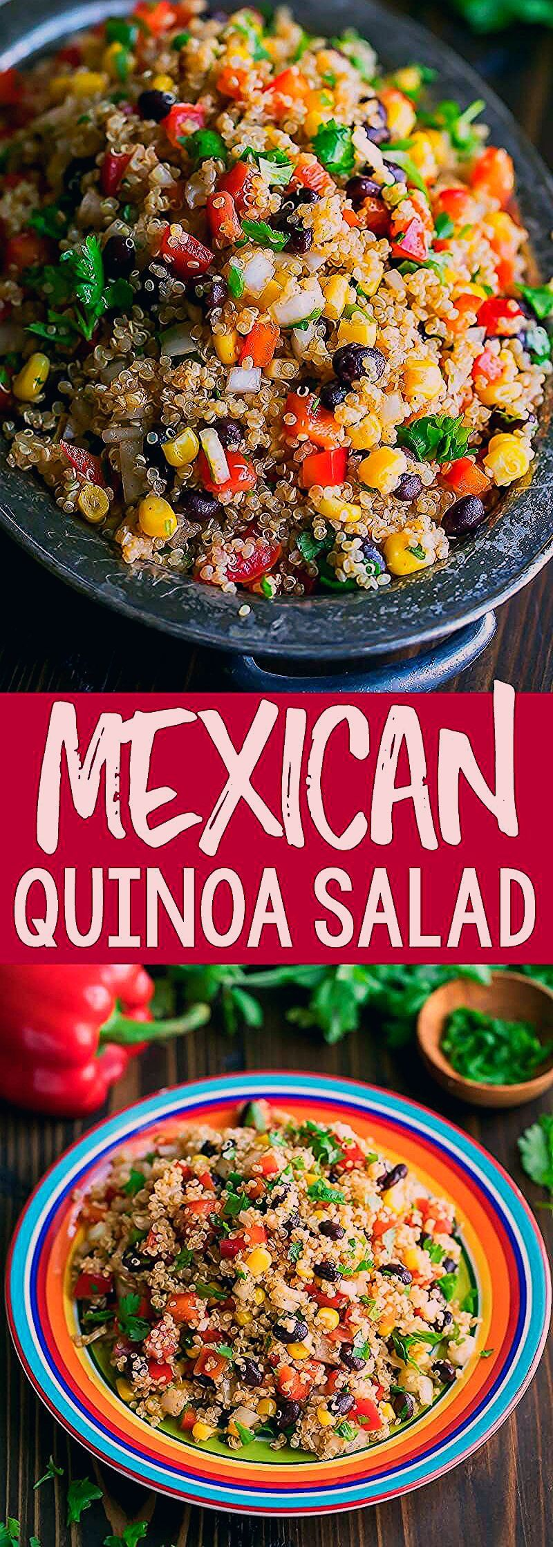 This healthy Mexican Quinoa Salad is a quick, easy, and gloriously make-ahead dish! Tossed in a spe