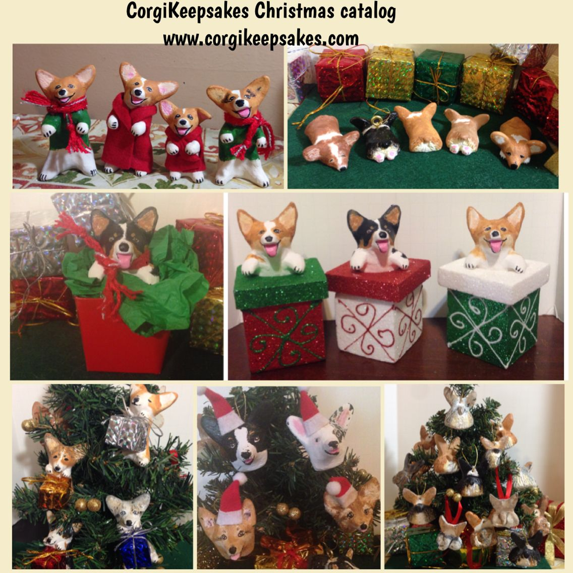 Corgis For Christmas! Visit My Website Or Etsy Shop! Http://www