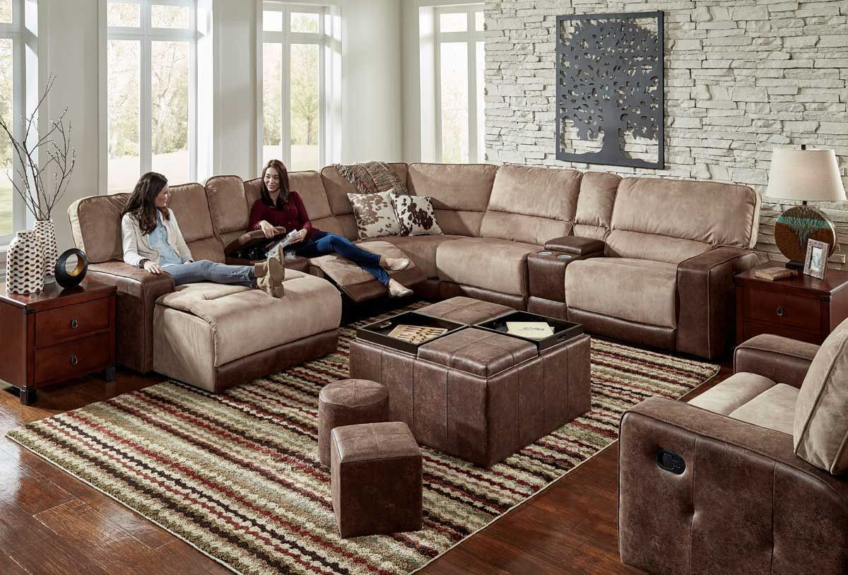 Pasadena 6 Piece Left Arm Facing Chaise Sectional Sectional Chaise Small Ottoman #pasadena #gray #living #room #sectional