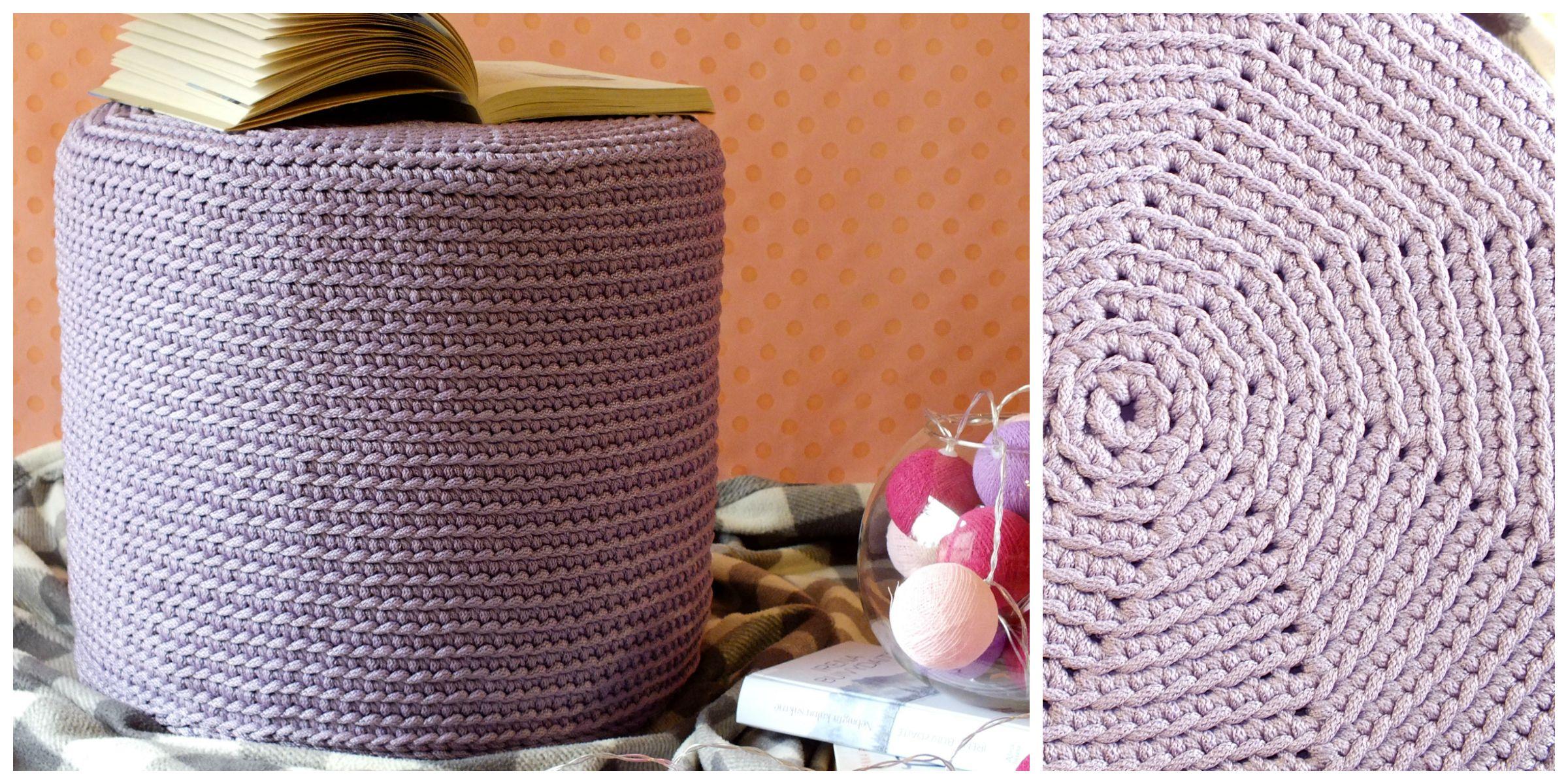 Crochet puff, cosy reading