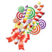 free candyland clip art lollipops with red ribbon royalty free rh pinterest com