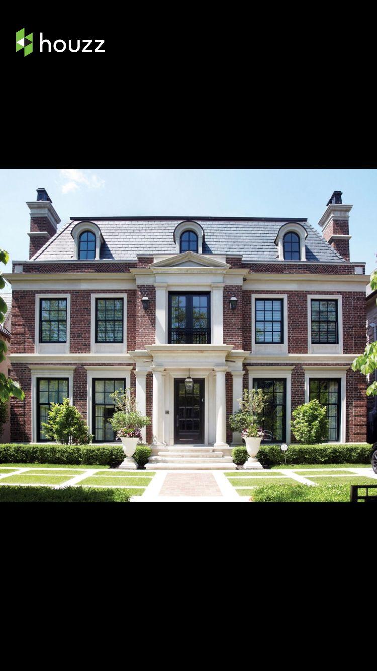 black windows light trim red brick house brick houses red b. Black Bedroom Furniture Sets. Home Design Ideas