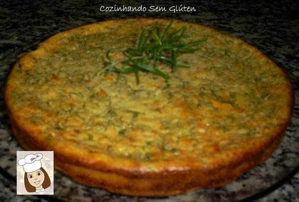 Cozinhando sem Glúten: Torta salgada com rúcula e tomate seco