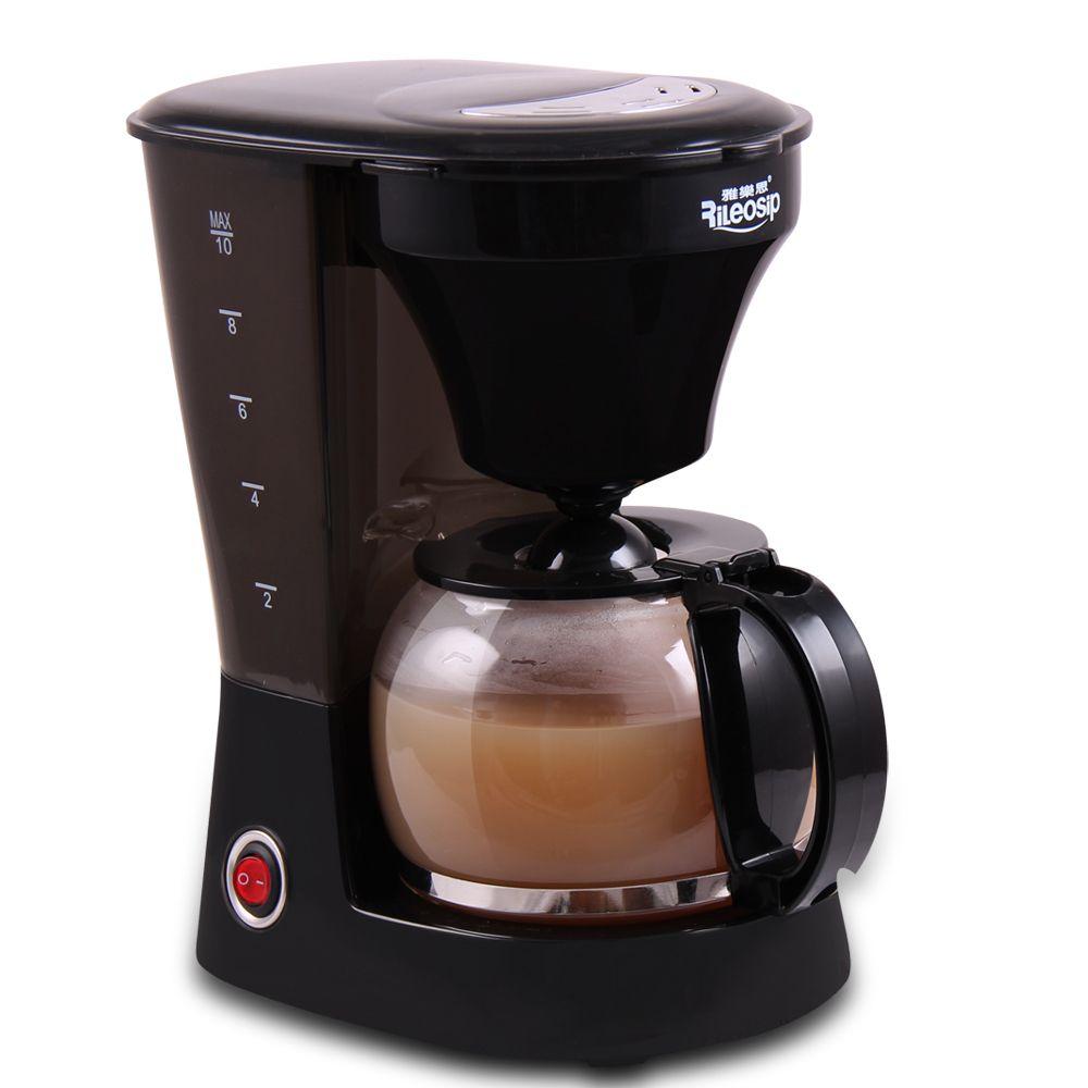 Rileosip Semi Automatic Coffee Pot Household Espresso Machine American Style High Temperature Drip Cheap Coffee Maker Coffee Machine Tea Pots