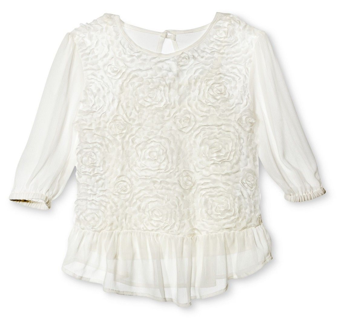 Girls' Floral Blouse