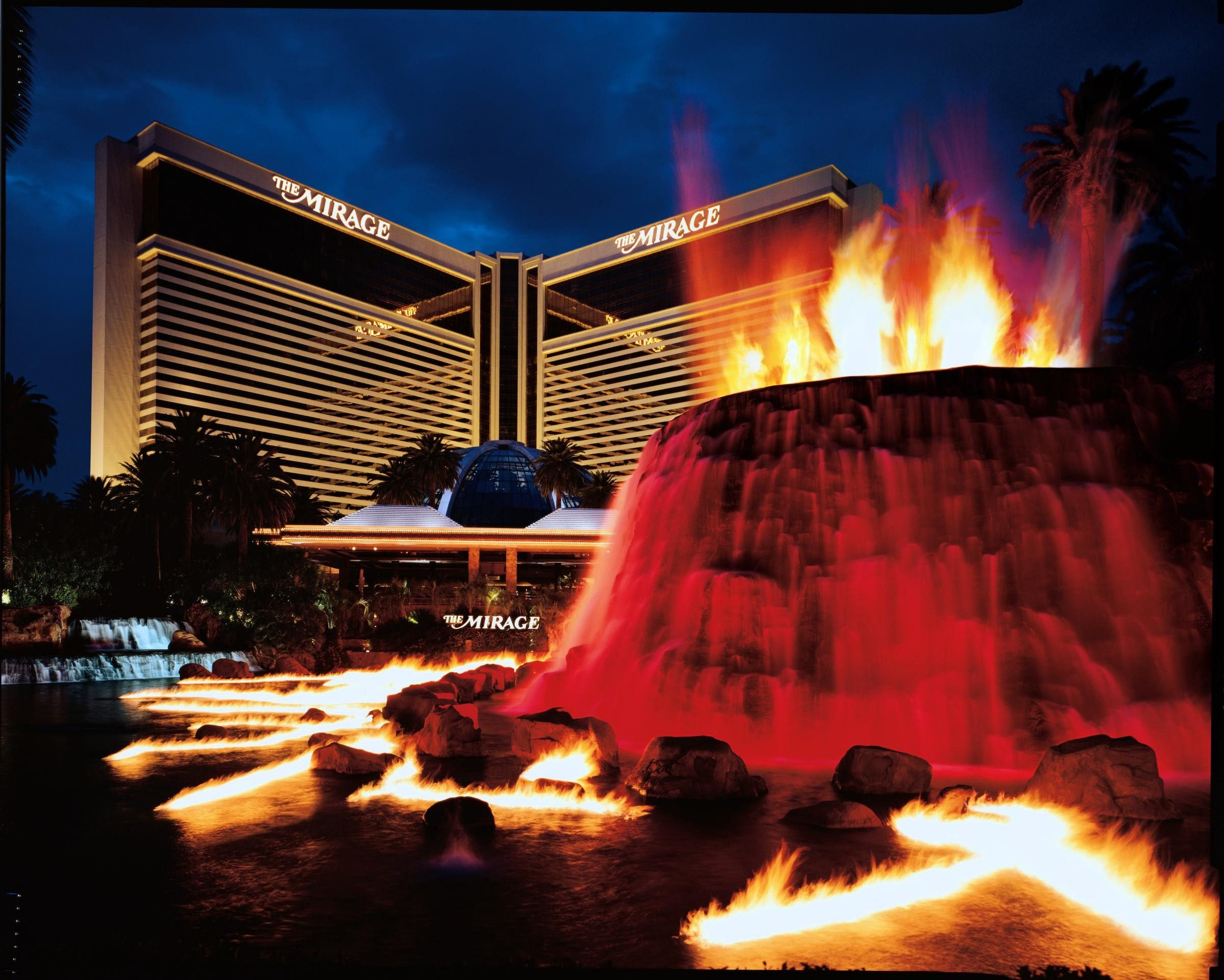 Image result for mirage volcano show