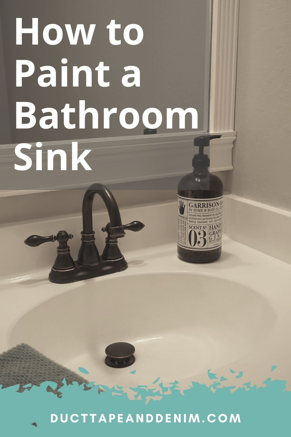 How To Paint A Sink A Diy Bathroom Project Your Budget Will Love Painting Bathroom Painting A Sink Bathroom Sink Diy [ 1500 x 1000 Pixel ]