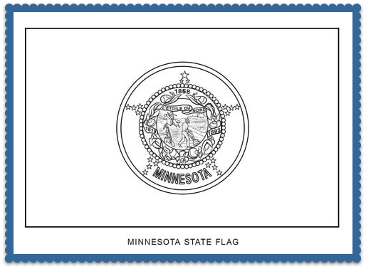 Minnesota State Flag Coloring Page Print Or Color