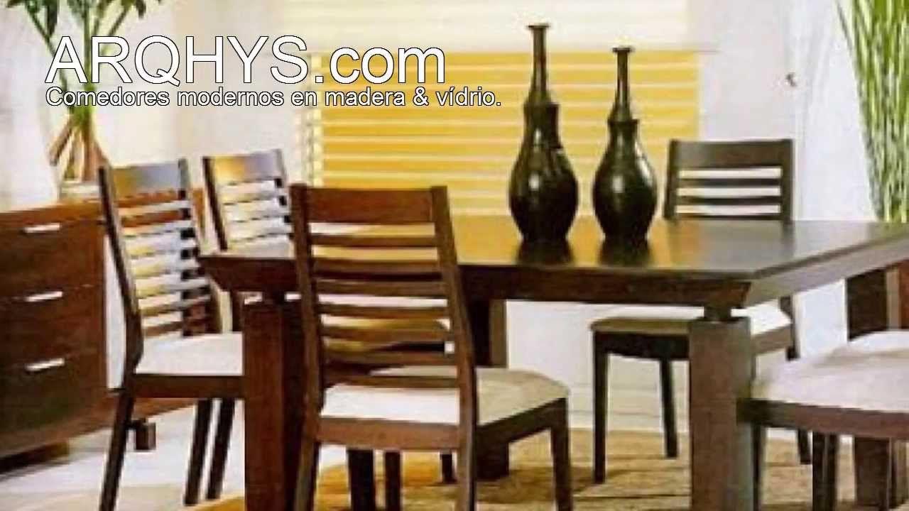 Comedores modernos de madera y vidrio ma pinterest for Disenos de comedores de madera modernos