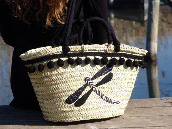 Cesto mimbre bolsos pinterest lib lulas cesto y cestas - Capazos de mimbre decorados ...