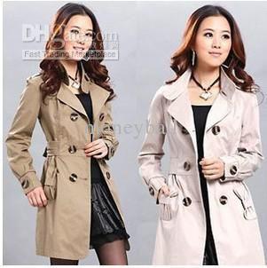354de3e9209 Wholesale Korean trench coat Ladies Winter Long Coat Overcoat New Fashion  Original Coats women trench coats