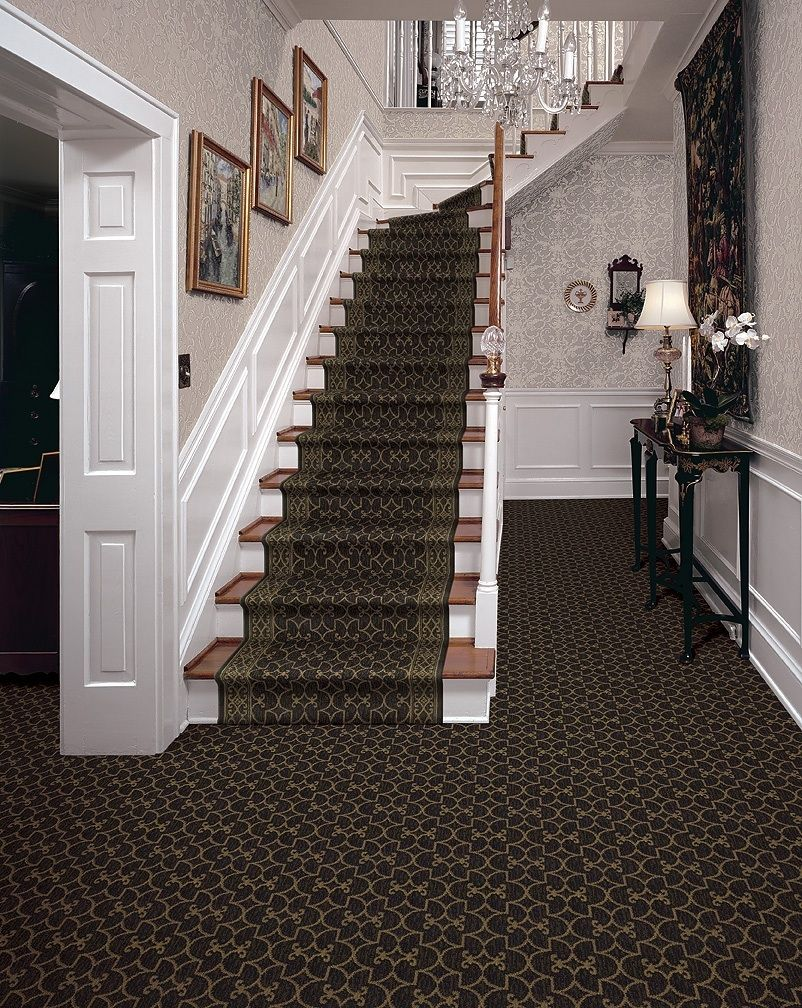 Park Place - Vernon House by Daltonian - Luxurious Broadloom carpet and  matching stair runner at