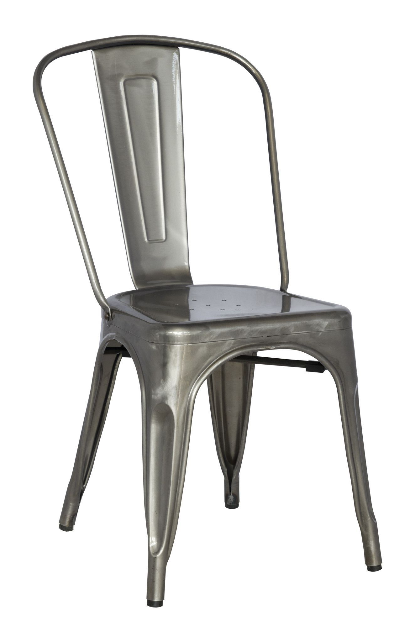 Monarch Specialties 2412 Cafe Chair In Silver Galvanized Metal