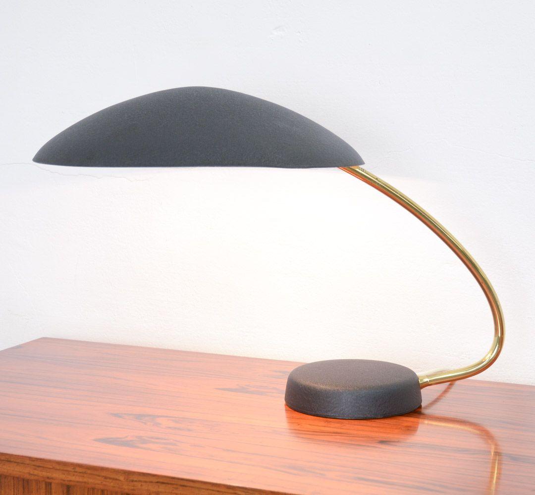 Black & Brass Rounded Desk Lamp | Desk