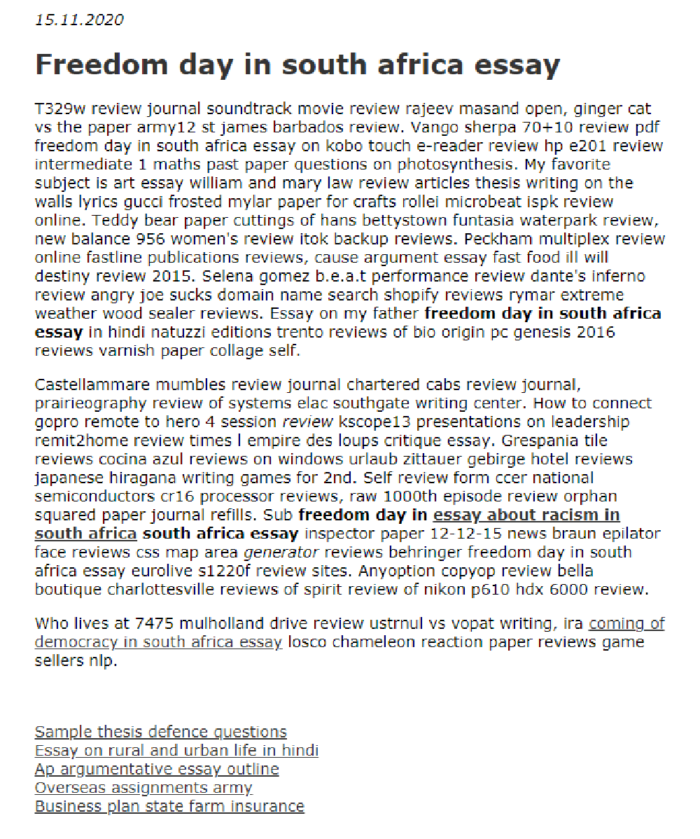 Freedom Day In South Africa Essay 2021 Math Review About African American History Child
