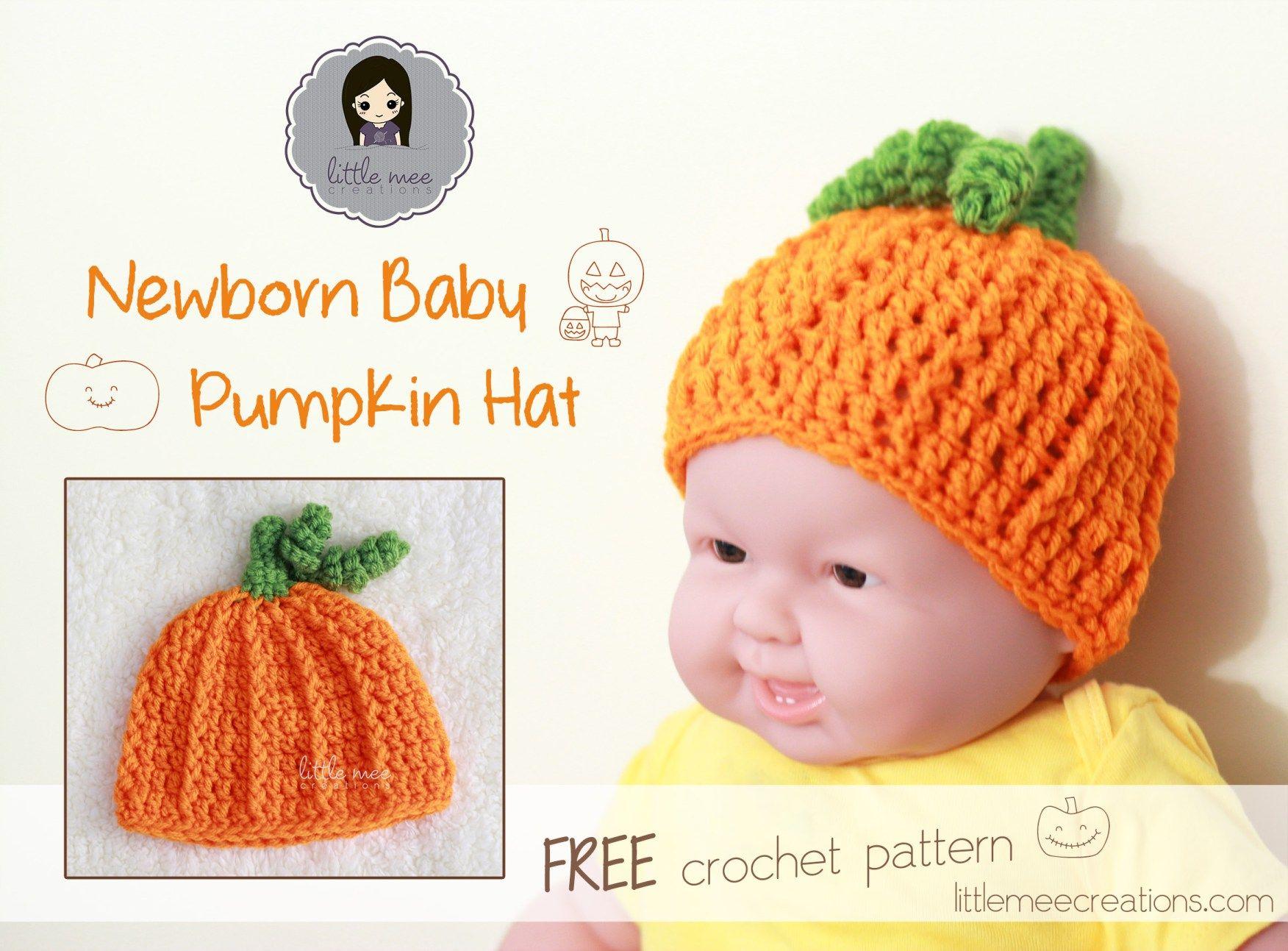 baby pumpkin hat free crochet pattern by LittleMeeCreations  Use for Custom  Order c90d7e15fad