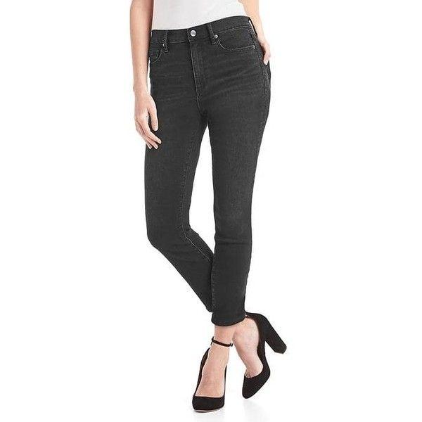 Gap black high rise skinny jeans