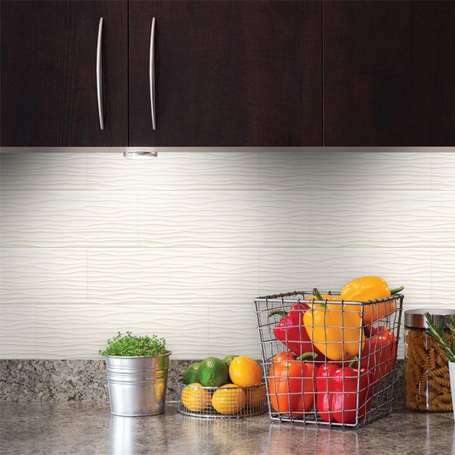 Allen Roth Wavecrest White Gloss Ceramic Wall Tile