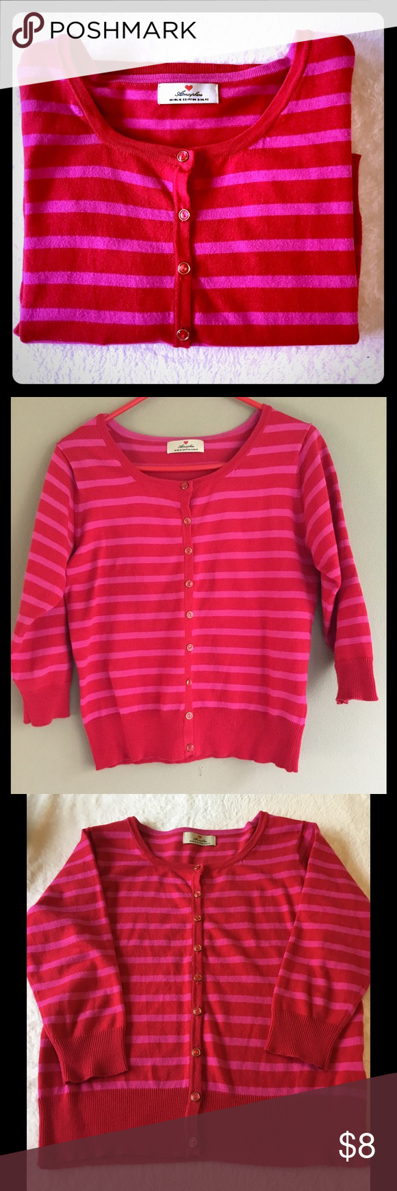 Red and pink cardigan sweater 14 | Pink cardigan sweater, Pink ...