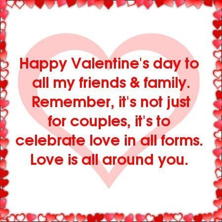 Happy Valentine\'s Day to all my friends and family love hearts ...
