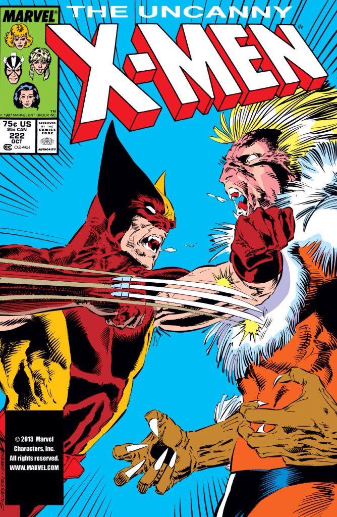 Wolverine vs Sabretooth in '87 (1987 - Uncanny X-Men #222)