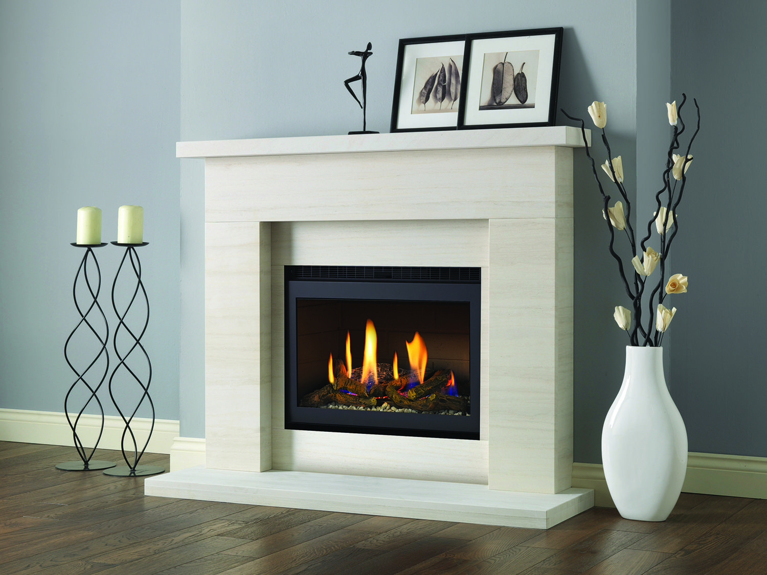 Firesu gas fires electric fires flueless fires and