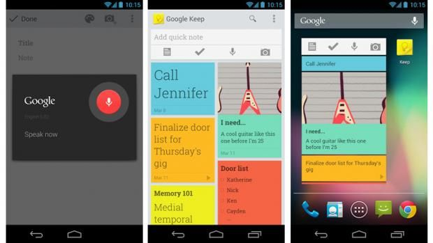 Best Galaxy S3 apps Google Keep notes/lists/homescreen