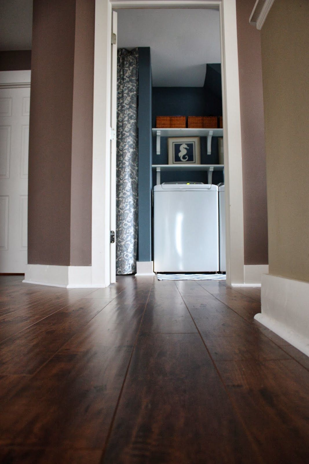 The Yellow Cape Cod Our New Floors Goodbye Carpet Canyon Oak By Sam S Club Laminate Flooring