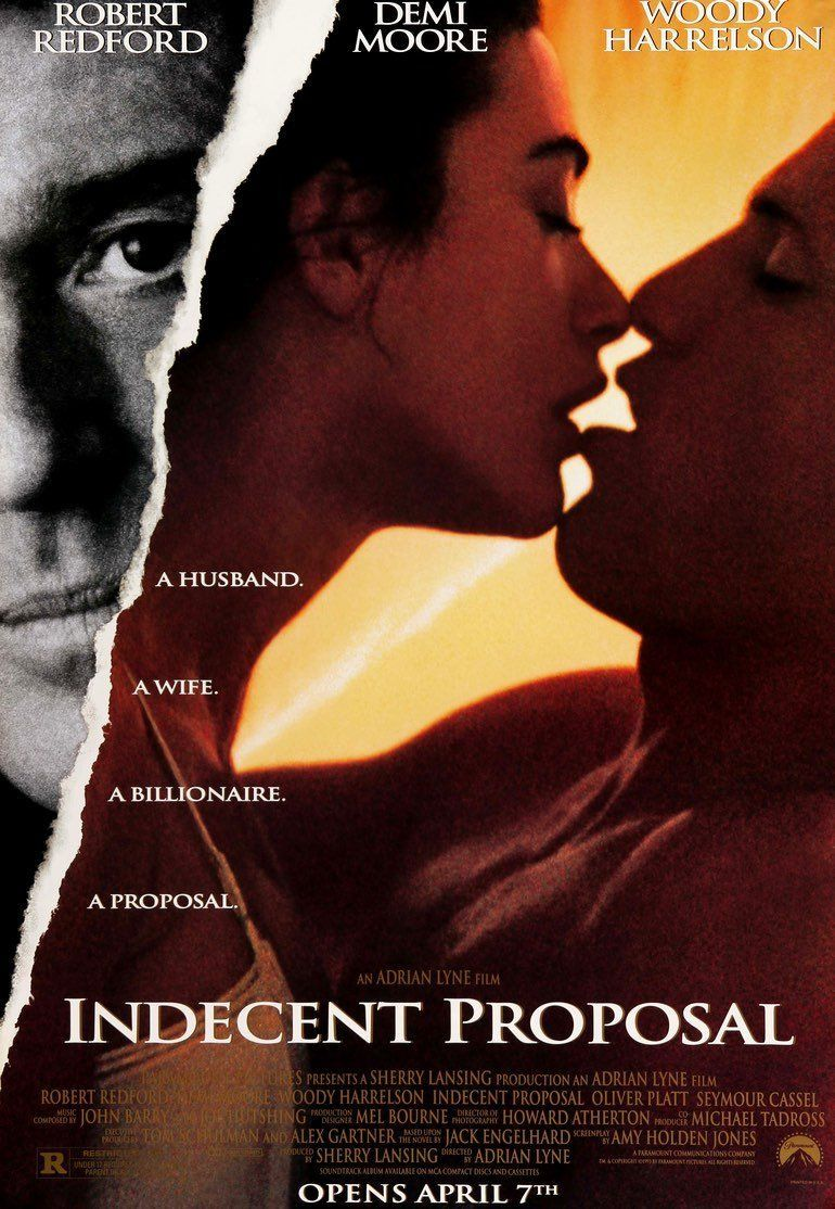 Indecent Proposal 1993 Indecent Proposal Romantic Movies Romance Movies