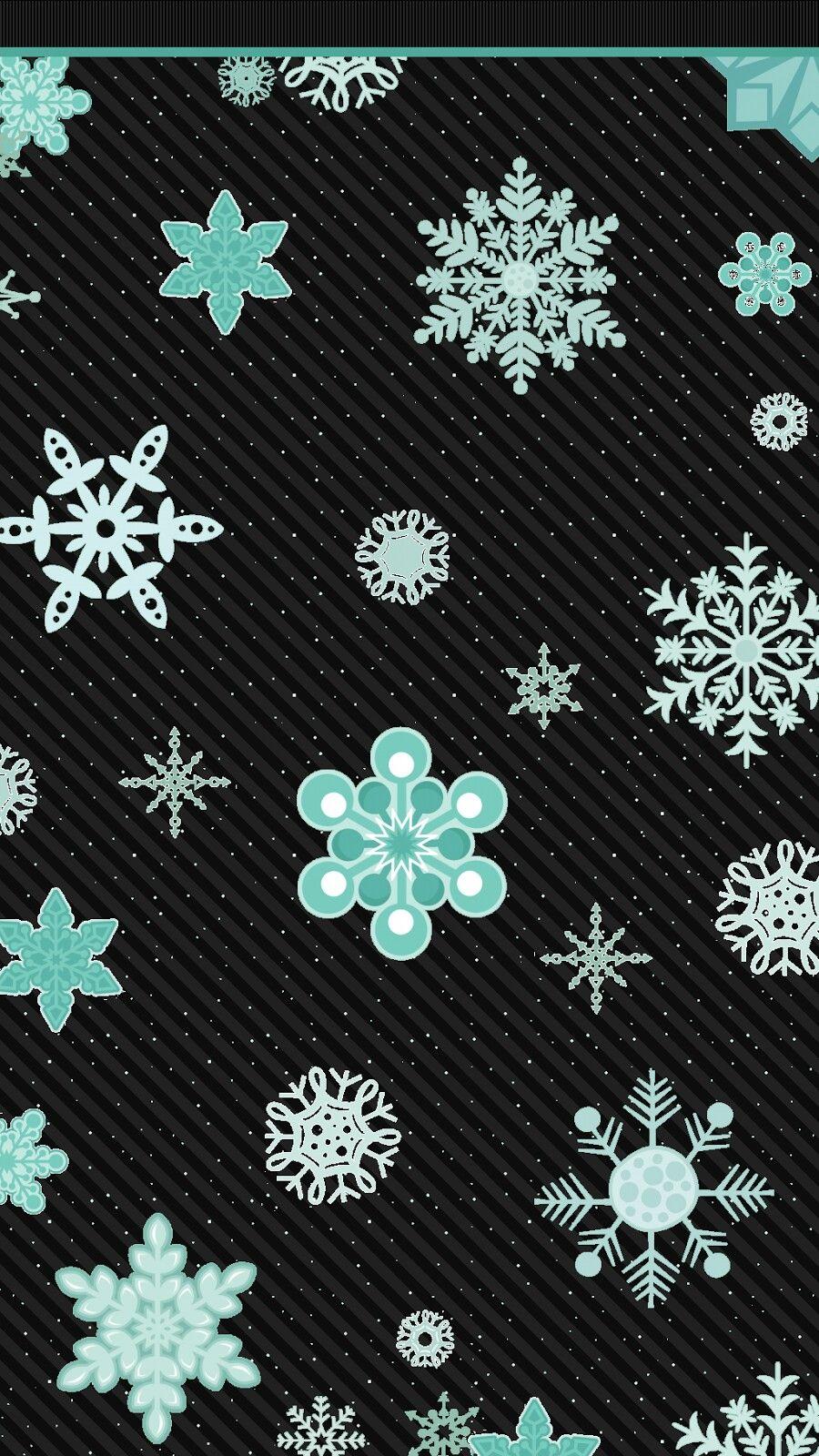 Cute snowflake wallpaper phone wallpapers pinterest cute snowflake wallpaper voltagebd Images