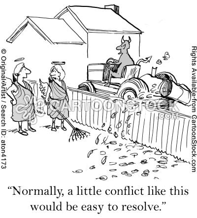 Conflict Resolutions Cartoons And Comics Conflict Resolution Escrow Humor Conflicted