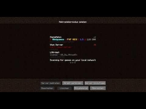 Minecraft LanServer Erstellen Mit Map GermanHD Http - Minecraft spielen im lan
