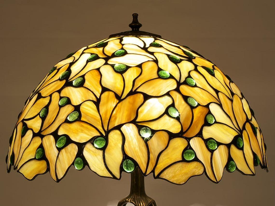 Tiffany Lamp 40 Cm 16 In Maple Tiffany Desk Lamp Tiffany Lamp Desk Lamp Lamp Stained Glass Lamp Shades Stained Glass Lamps Tiffany Lamps