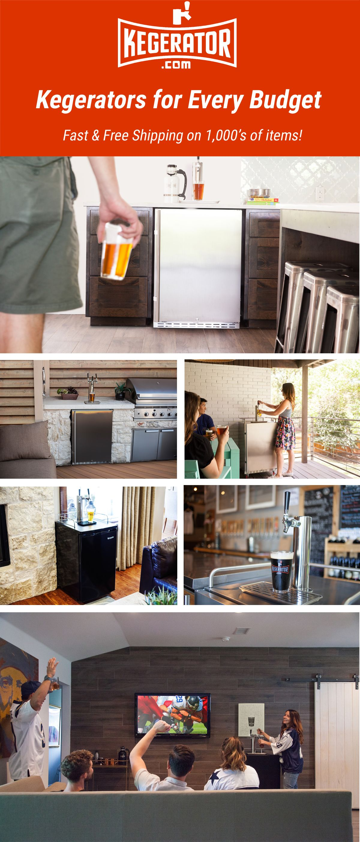 Get your house ready for Game Day at Kegerator.com   Beer On a ...