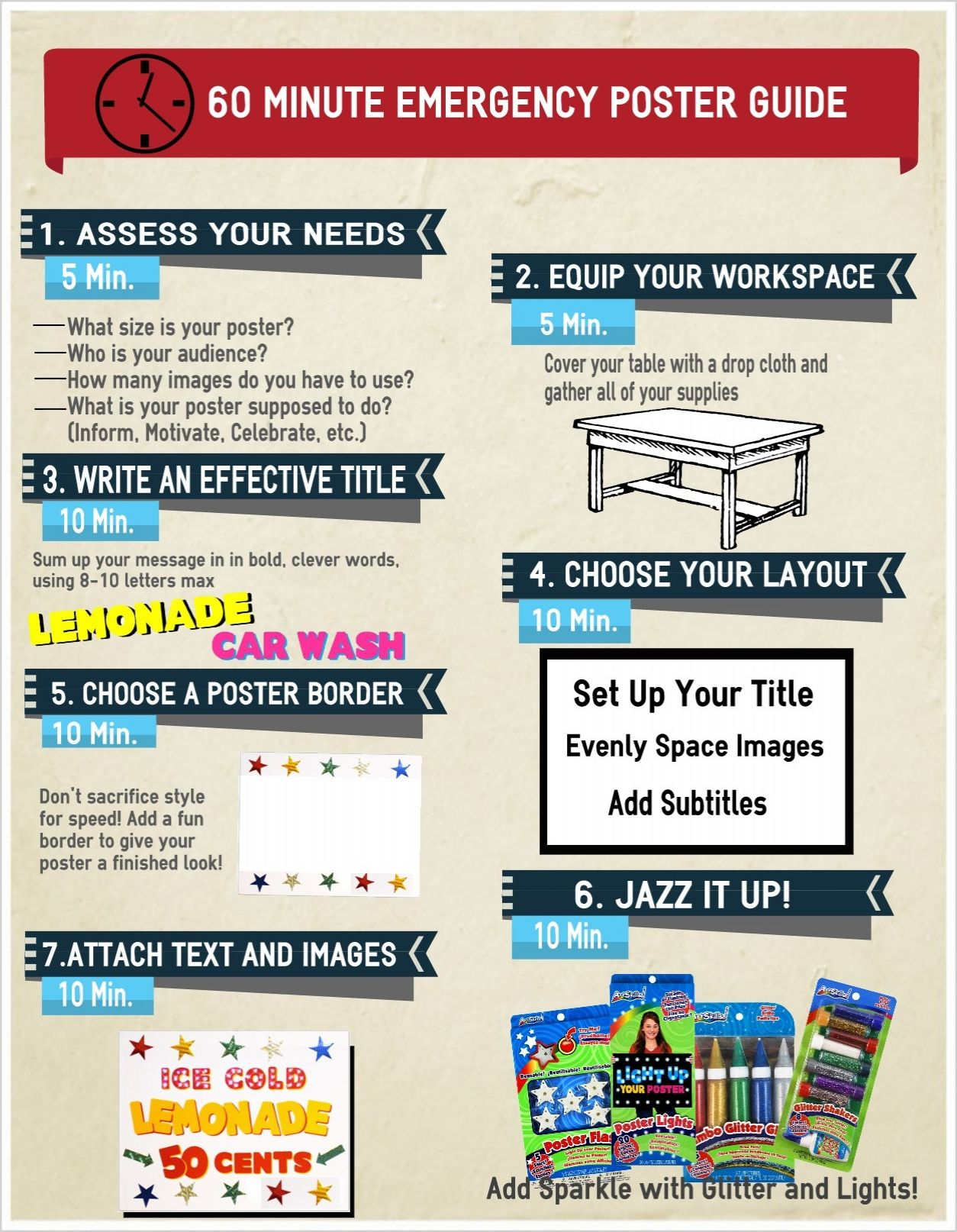 60 Minute Emergency Poster Guide | How to Make a Poster ...