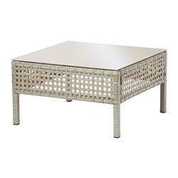 KUNGSHOLMEN Sohvapöytä ulkokäyttöön - vaaleanharmaa - IKEA
