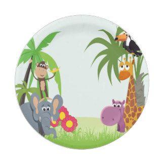 Jungle Safari Baby Shower 7 Inch Paper Plate  sc 1 st  Pinterest & Jungle Safari Baby Shower 7 Inch Paper Plate | Baby Shower : Plate ...