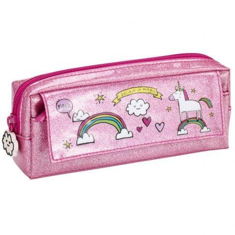 Pink Glitter Unicorn Pencil Case