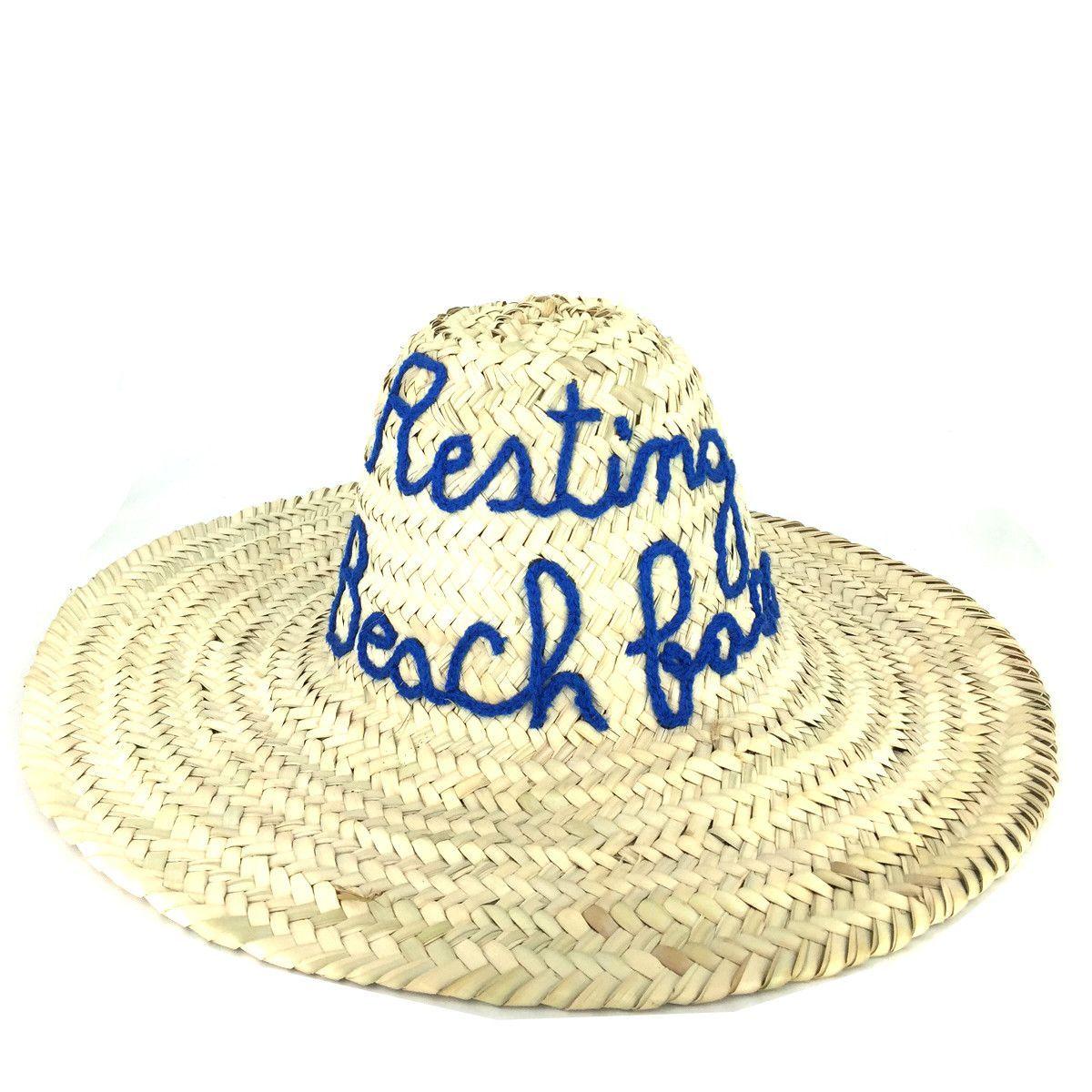 Chapéus De Sol · Resting Beach Face Moroccan Sun Hat 6ce06085f7a
