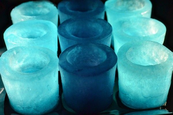 DIY ... Ice Shot Glasses