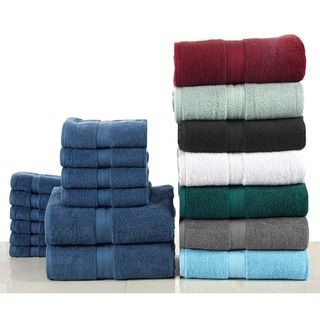 Cotton 24 Piece Towel Set With Fingertip Towels Towel Set Towel