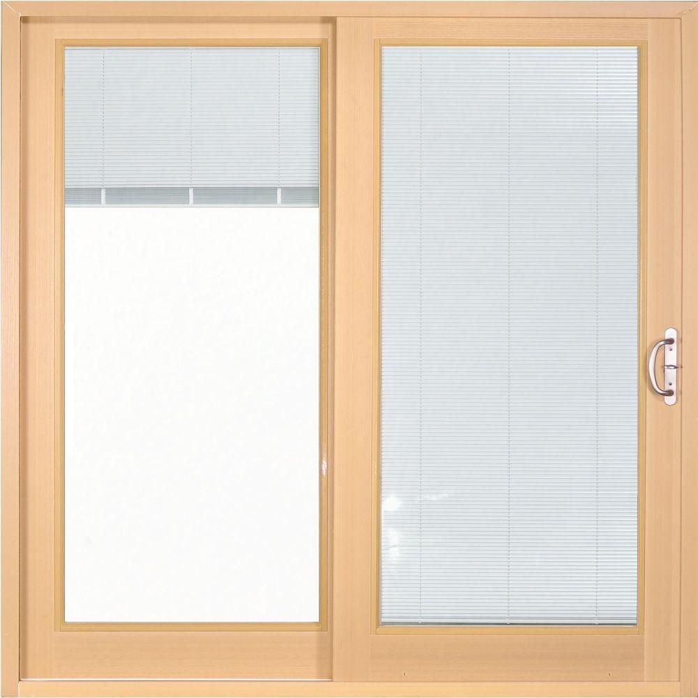 Mp doors in x in woodgrain interior smooth white exterior