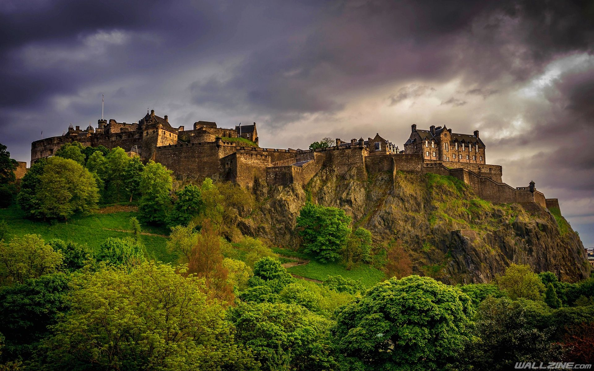 Обои замок, холм, эдинбург, edinburgh, Шотландия. Пейзажи foto 6